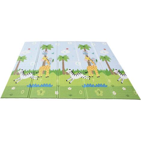 Tapis de jeu d'éveil pliable pour enfant bébé double face 2 en 1 Sunny Safari Magic Garden Fantasy Fields PS-PM001