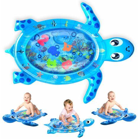 Tapis de jeu gonflable pour bébé Motif tortue, grand ventre, tapis de temps, tapis de l'eau de mer anti-fuite multicolore, jouet pour bébé pour le développement précoce du nourrisson