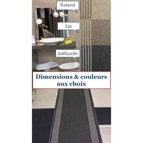 Tapis de passage haut de gamme / tapis Anthracite / Tapis idéal pour couloir, entrée, cuisine, salon... / dimension au choix