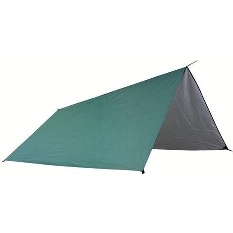 Tapis de plage de camping exterieur d\'auvent de cour, auvent multifonctionnel, carrebleu clair