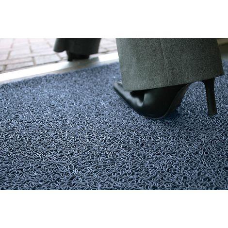 Tapis de propreté, difficilement inflammable - L x l 1200 x 900 mm, lot de 1 - coloris bleu
