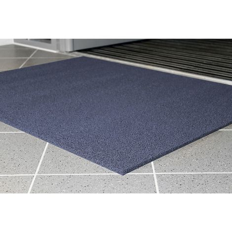 Tapis de propreté, difficilement inflammable - L x l 900 x 600 mm, lot de 2 - coloris bleu