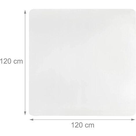 """main image of """"Tapis de protection bureau sol transparent 120 x 120 cm - Transparent"""""""