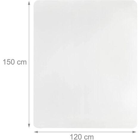"""main image of """"Tapis de protection bureau sol transparent 120 x 150 cm - Transparent"""""""