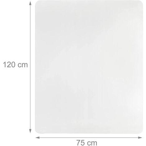 """main image of """"Tapis de protection bureau sol transparent 75 x 120 cm - Transparent"""""""