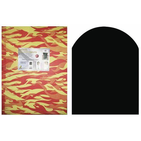 Tapis de protection poêle à bois et noir cm de granulés. plates-formes 60x80