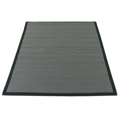 Tapis de protection pour barbecue - En polypropylene recyclé - 120 x 180 cm - Noir