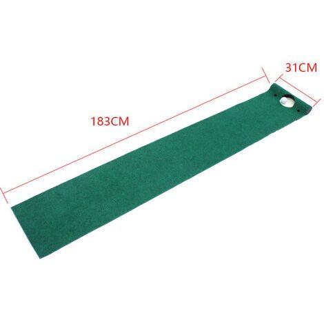 Tapis de Putting de Golf 31 * 183cm, Tapis de Practice Golf pour Cour Intérieure Extérieure, Professionnel Tapis d'entraînement de Golf à Domicile