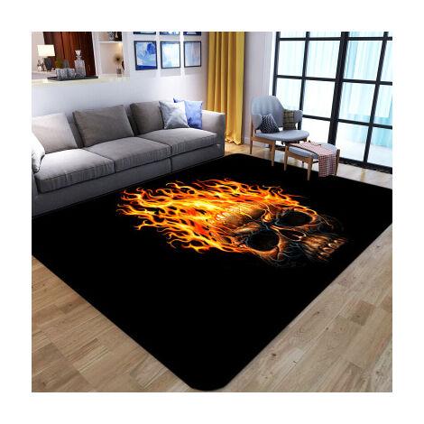 Tapis de salle à manger de chambre à coucher de tapis de salon squelette abstrait (style2 100x150cm)