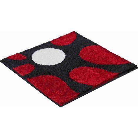 Tapis de salle de bain COLANI 12 rouge 60 x 60 cm / Couleur: Rouge /  Référence: b3033-64014