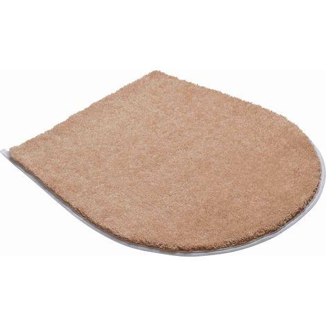 Tapis de salle de bain FANTASTIC beige housse pour abattant wc 47 x 50 cm /  Couleur: Beige / Référence: b4110-000003137