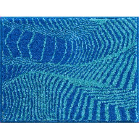 Tapis de salle de bain KARIM 13 bleu turquoise 50 x 65 cm / Couleur:  Bleu-turquoise / Référence: b3646-82244