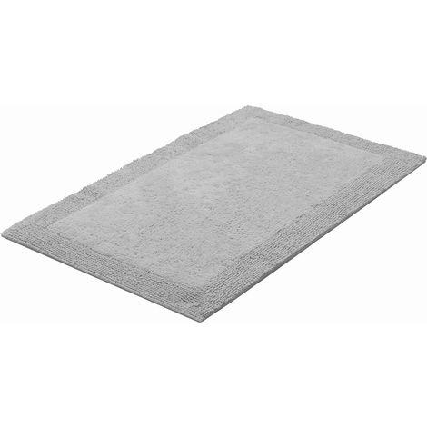 Tapis de salle de bain LUXOR gris 80 x 150 cm / Couleur: Gris ...