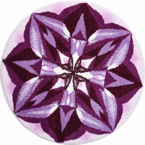 Tapis de salle de bain MEANINGFULNESS violet rond 60 cm / Couleur ...