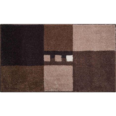Tapis de salle de bain MERKUR marron 60 x 100 cm / Couleur: Marron ...
