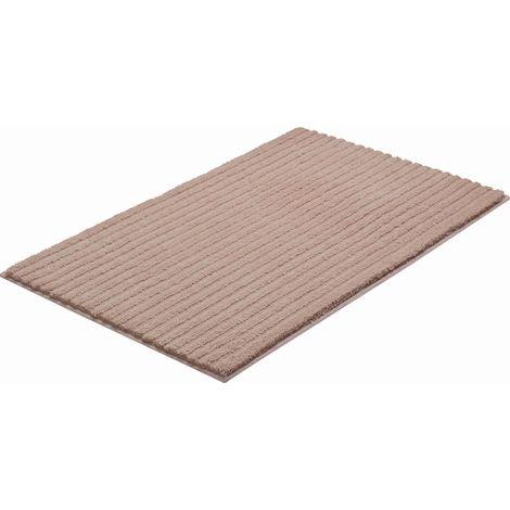 Tapis de salle de bain RIFFLE chocolat 70 x 120 cm / Couleur: Chocolat /  Référence: b4001-236306