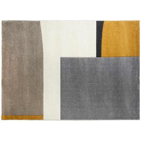 Tapis de Salon Abstrait 160x230cm Multicolore
