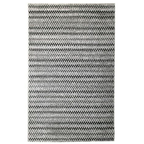 Tapis De Salon Contemporain TOSCANE Noir Et Gris 160x230cm