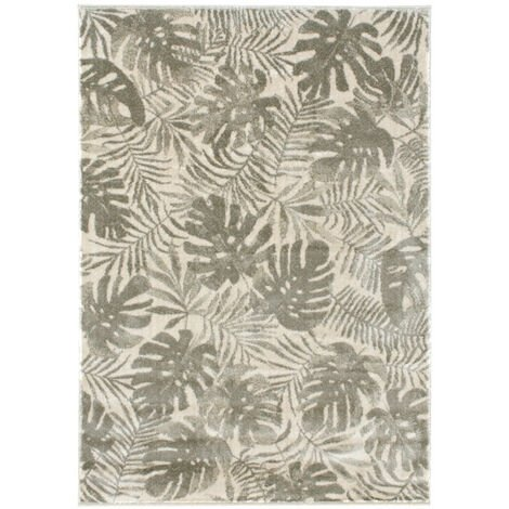Tapis de salon en velours - Amazonie - Motif jungle feuillage tropical