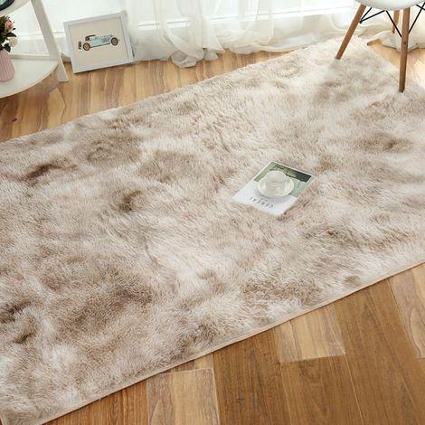 Tapis de salon Shaggy 50 x 80cm 4.5cm Antidérapant