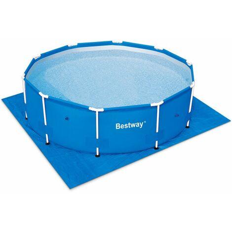 Tapis de sol 396 x 396 cm pour piscine hors sol Bestway