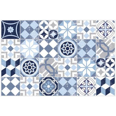 tapis de sol 60x90cm mosaïque bleue - 868218-02 - contento