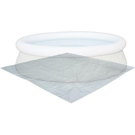Tapis de sol gris 330 x 330 cm pour piscine ronde hors sol 300cm b che couverture - Bache piscine hors sol ronde ...