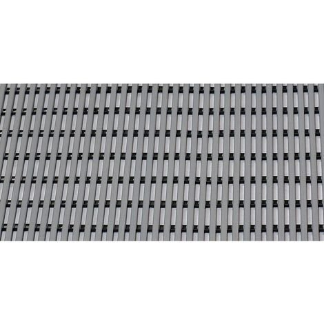 Tapis de sol pour douche et vestiaire - PVC souple, par m lin. - largeur 600 mm, coloris gris