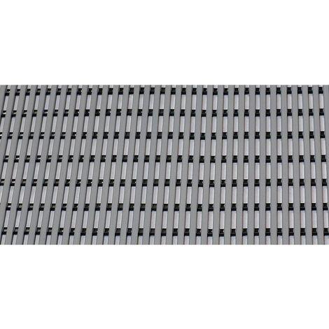 Tapis de sol pour douche et vestiaire - PVC souple, rouleau de 10 m - largeur 1200 mm, gris