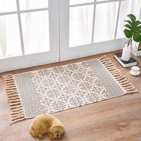Tapis de sol tapis de chambre gland tapisserie tapis de prière tissé à la main bohême 60X90 CM frangé britney Style 5