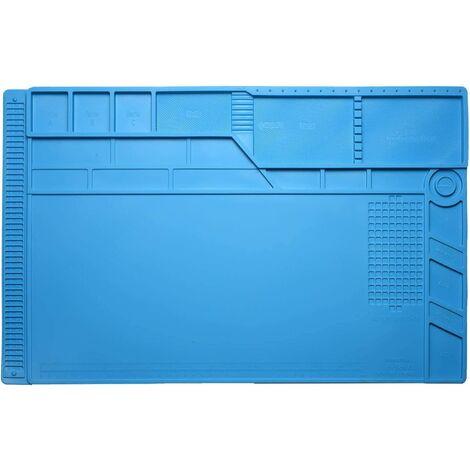 Tapis de soudure réparation antistatique, magnétique 500 ℃ Tapis de travail en silicone résistant , réparation de téléphone portable 55x 35cm