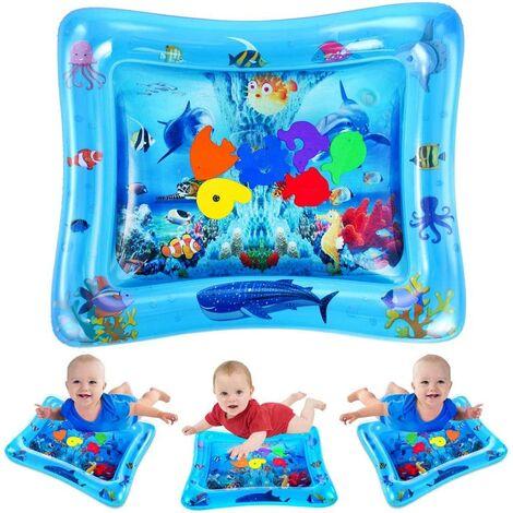Tapis d'eau de bébé, Natte de Jeu d'eau pour Bébés et Tout-Petits, Jouets Sensoriels Parfaits pour Nouveau-nés Centre d'activités