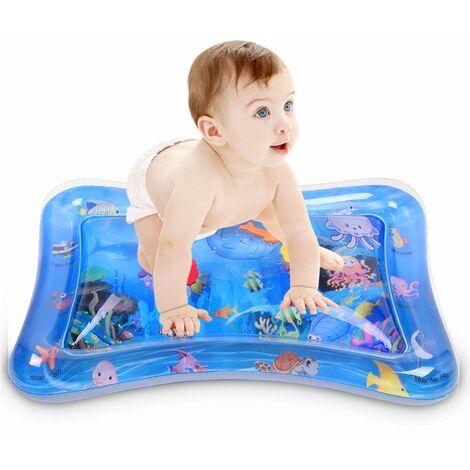 Tapis D'eau Gonflable de Bébé pour Jouet Jeux Bebe 3 6 mois 1 an Bébé Cadeau Bebe Fille Centre de Jeux D'activités Amusantes Stimulation de la Croissance de Bébé (66x50cm)