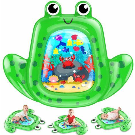 Tapis d'eau pour nourrissons et tout-petits,Tapis de Jeu en PVC Imperméable, Rempli d'eau pour Les Bébés, Jouets Sensoriels Parfaits pour Nouveau-nés Centre d'activités