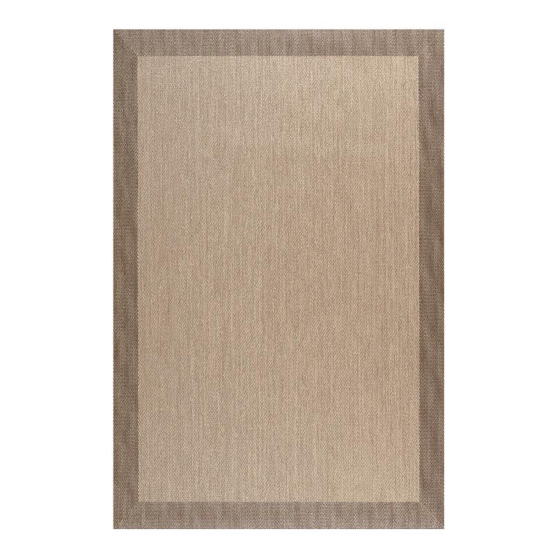 Tapis Deblon en vinyle antidérapant et résistant, Marron clair 140 x 200 cm