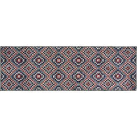 Tapis déco intérieur absorbant - amerindien - 150x50 cm