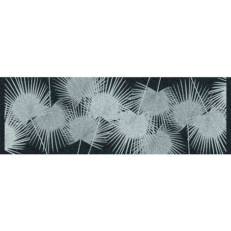 Tapis déco intérieur absorbant - palmes nuit - 150x50 cm