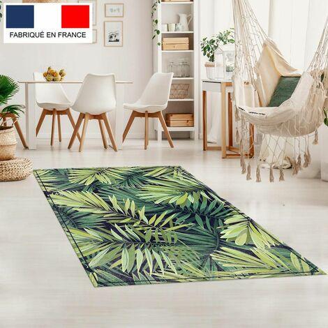 Tapis décoration vinyle Tarkett 80x120 pour salon chambre bureau - style tropical motif forêt