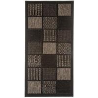 Tapis d'entrée déco carreaux noir - 50 x 120 cm -PEGANE-