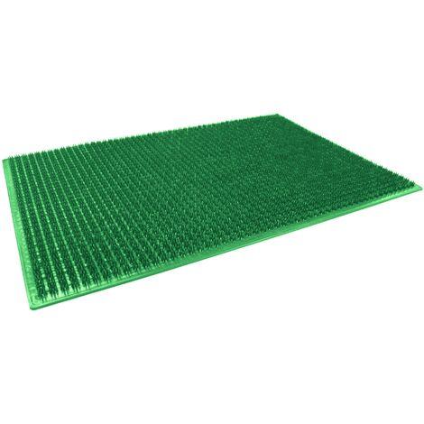 "main image of ""Tapis d'entree rectangle 58.5 x 38.5 cm polyethylene grattoir Vert"""