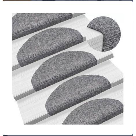 Tapis d'escalier 15 pcs 65 * 21 * 4cm gris