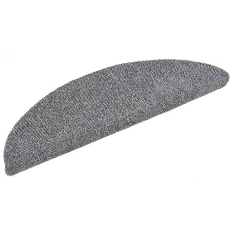 Tapis d'escalier auto-adhésif 15 pcs 54 x 16 x 4 cm Gris clair