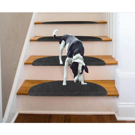 Tapis d'escalier - Noir - 65 x 21 x 4 cm