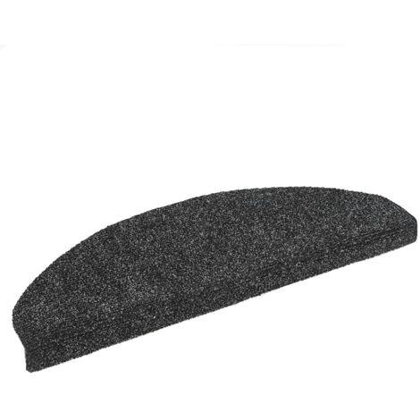 Tapis d'escalier Poinçon aiguilleté 15pcs 65x21x4 cm Gris foncé