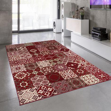 Tapis design et moderne 140x200 cm Rectangulaire BC FAIAN Multicolore Salon adapté au chauffage par le sol