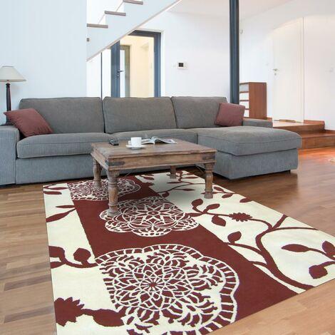 Tapis design et moderne 200x300 cm Rectangulaire CAMINO Marron Salle à manger Tufté main