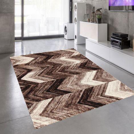 Tapis design et moderne 200x300 cm Rectangulaire COLORS Marron Salle à manger adapté au chauffage par le sol