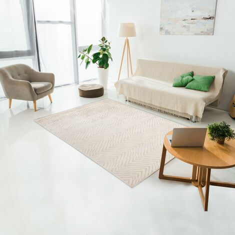 Tapis design et moderne 200x300 cm Rectangulaire MOMANE Gris Chambre Noué main Viscose