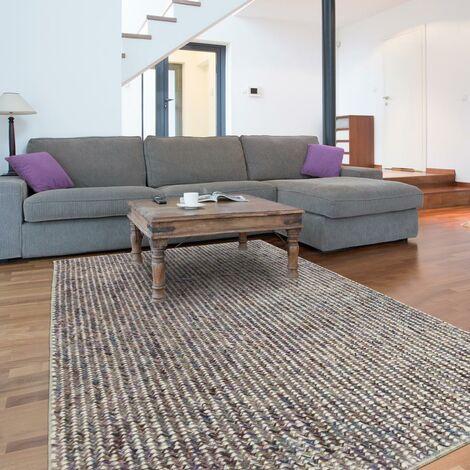 Tapis design et moderne 200x300 cm Rectangulaire MOMCO Marron Salon Tissé à la main