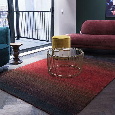 Tapis design et moderne 200x300 cm Rectangulaire MOMSY Rouge Grand salon Tissé à la main